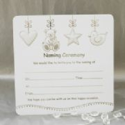 Pack of 10 Luxury Naming Ceremony Invitations